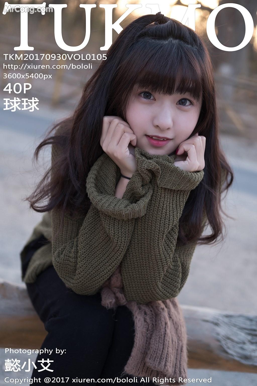 Tukmo Vol.105: Người mẫu Qiu Qiu (球球) (41 ảnh)