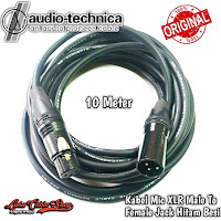 Kabel Mic XLR 10 Meter Male To Female Canon Hitam Besi