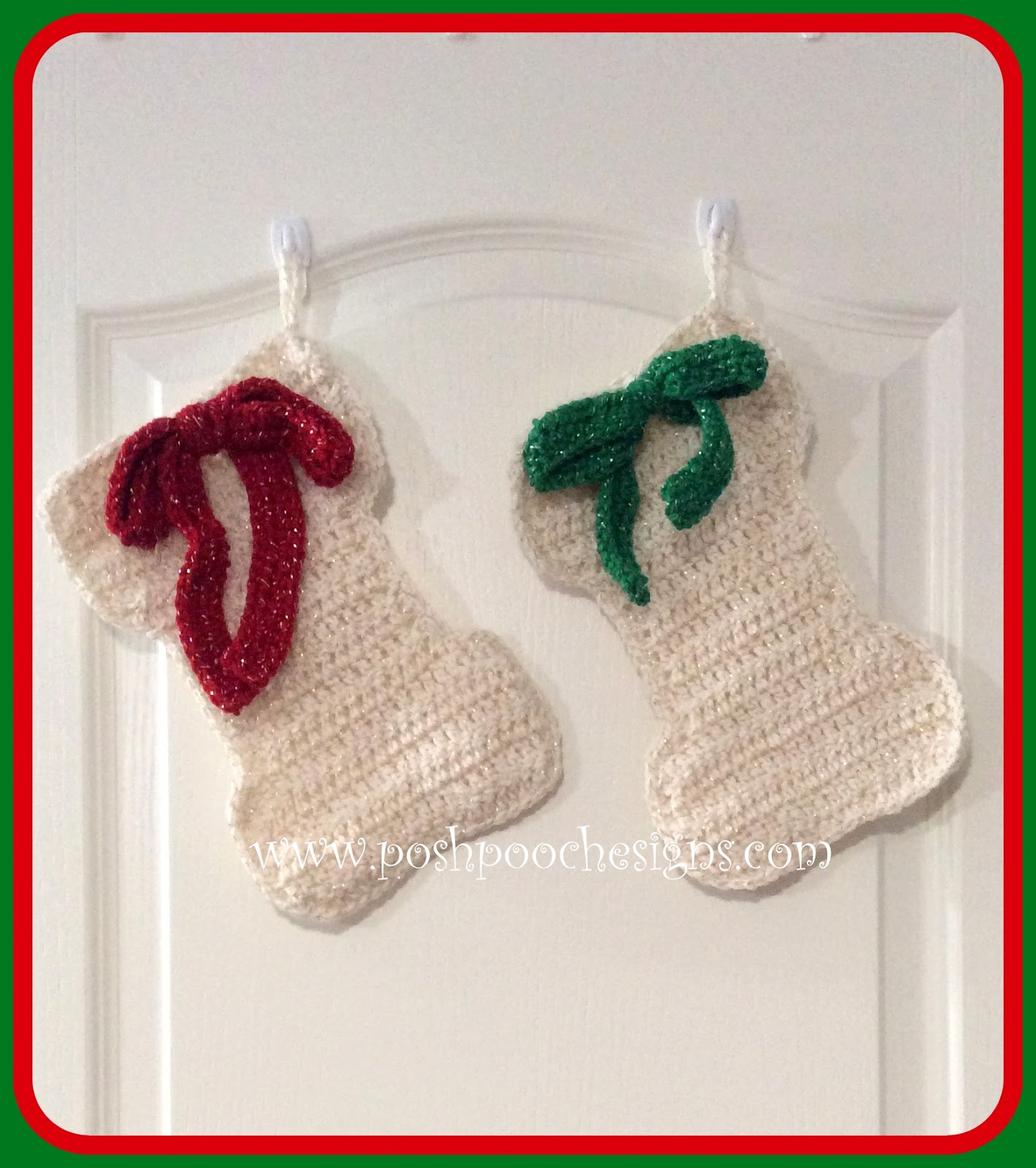 Posh Pooch Designs Dog Clothes: Dog Bone Christmas Stocking - RE ...