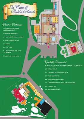 Mappa La Casa di Babbo Natale