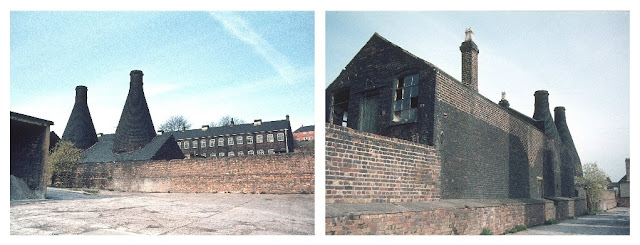 Stoke Updraught hob-mouthed bottle ovens at Falcon Pottery Works (occupied Portmeirion Group Ltd), Sturgess Street