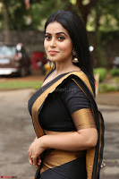 Poorna in Cute Backless Choli Saree Stunning Beauty at Avantika Movie platinum Disc Function ~  Exclusive 064.JPG