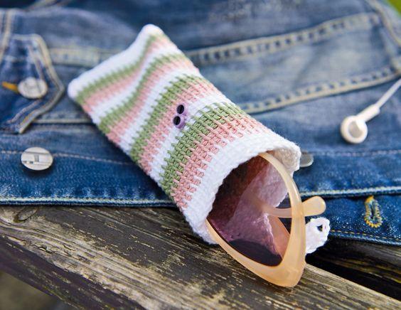 Pattern Glasses case - Crochet Tunisian - Crochet Free