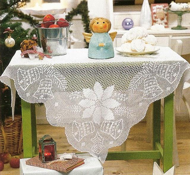 Hobby lavori femminili ricamo uncinetto maglia for Tovaglie all uncinetto