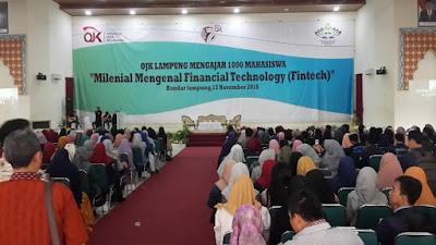 1000 Mahasiswa Ramaikan Gelaran Milenial Mengenal Financial Technology (Fintech)
