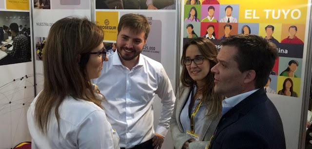 Forchieri y Roldán Méndez recorrieron la Expo Empleo Joven en La Rural