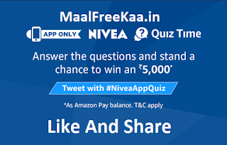 Nivea Quiz Time Free Amazon Pay Balance