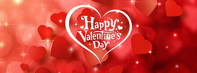 Heart Filled Valentine's Day Facebook Cover