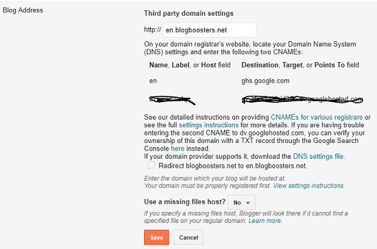 Thrid Party Domain Settings
