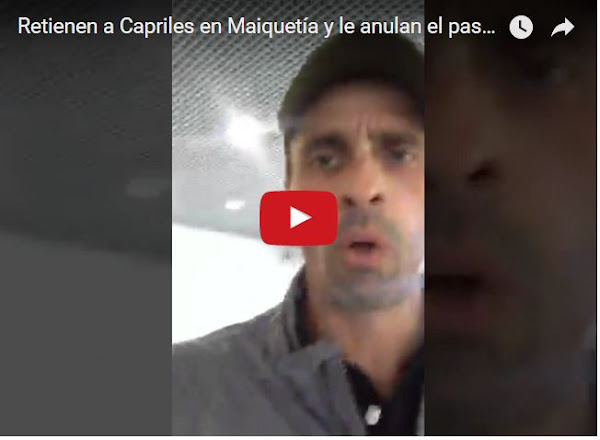 Henrique Capriles detenido en el Aeropuerto de Maiquetía