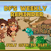 DF's Weekly Reminder July 25th-31st 2016