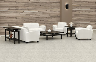 White Leather Lobby Furniture
