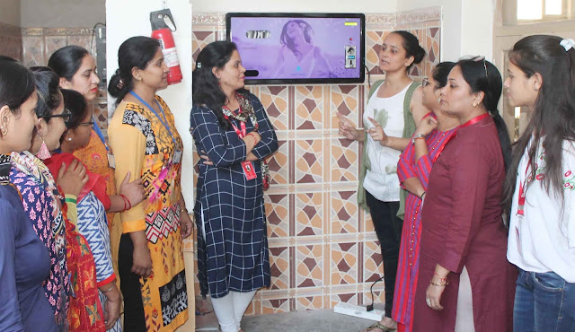 Firstly sanitary pad wading machine in Faridabad, located in Khajani Woman Occupational Institute
