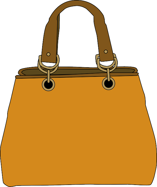Squared Handbag in Mustard Yellow