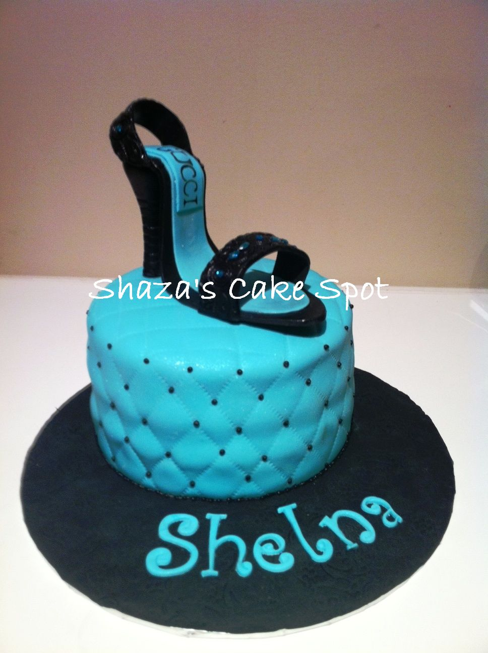 Birthday Cake Designs Shoes : Shoe Birthday Cake