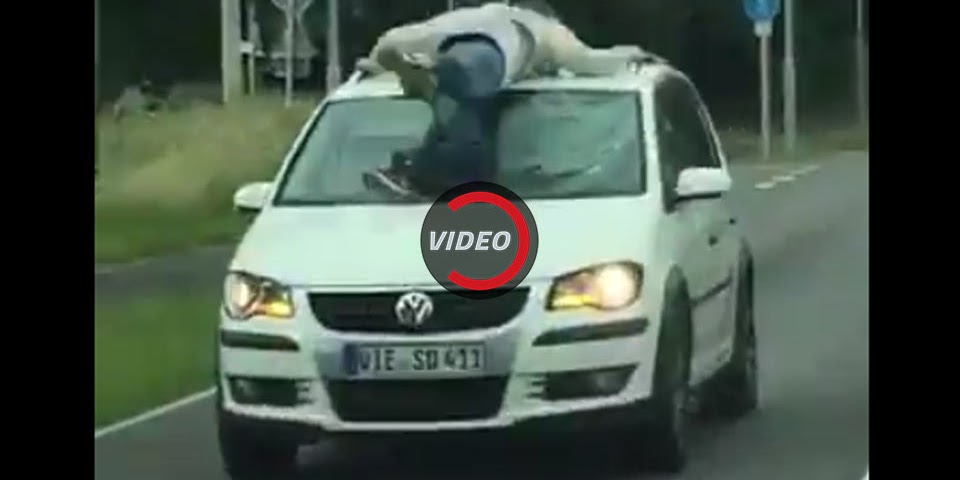 24-Year-Old Grasps Onto VW In Bizarre German Incident