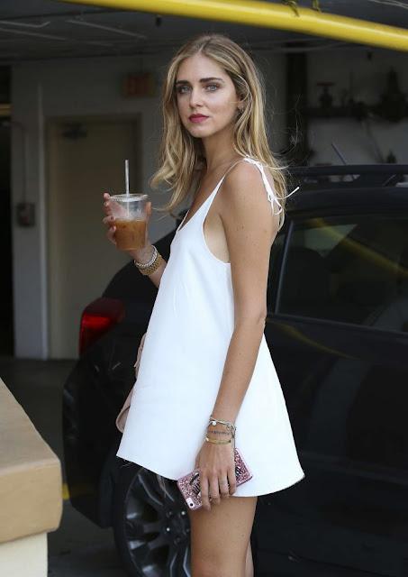 Chiara Ferragni in Mini Dress out in Los Angeles