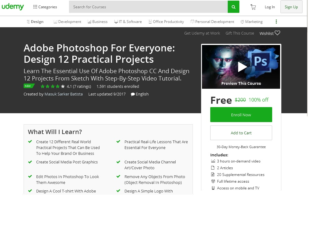 Adobe Photoshop For Everyone: Design 12 Practical Projects