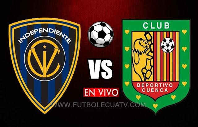 Independiente del Valle y Deportivo Cuenca chocan en vivo desde las 19:15 hora local por la fecha 16 de la Liga Pro a efectuarse en el estadio Municipal General Rumiñahui, siendo el árbitro principal Jefferson Macías con transmisión del canal oficial GolTV Ecuador.