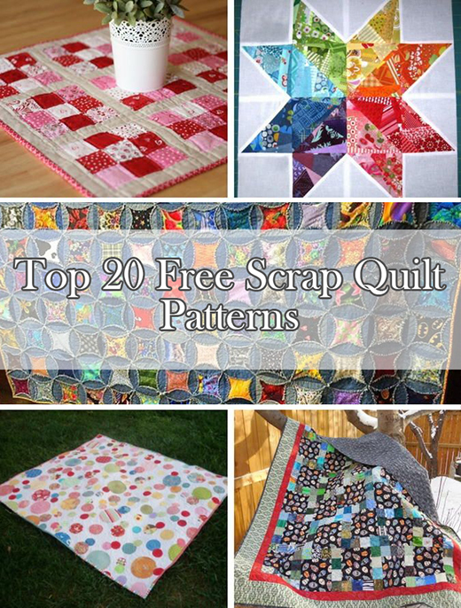 Top 20 Free Scrap Quilt Patterns By Jessica Nichols from FaveQuilts