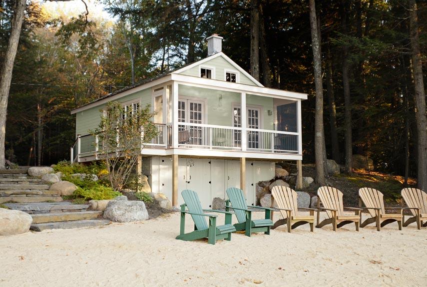 我們看到了。我們是生活@家。: 來到美國New Hampshire的湖邊度假!