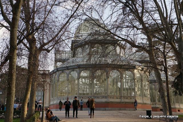 Palácio de Cristal no parque de El Retiro, em Madrid