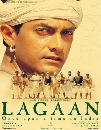 Poster Of Lagaan 2001 Hindi 800MB DVDRip 720p ESubs HEVC Watch Online Free Download downloadhub.in