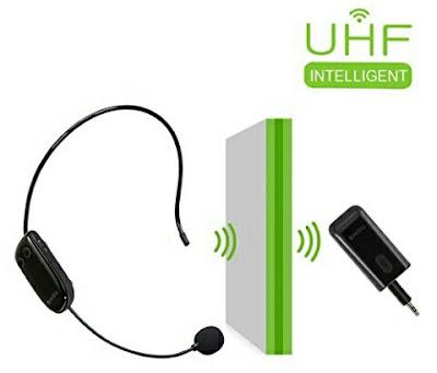 2-in-1 UHF Wireless Headset Microphone Handheld for Voice Amplifier Speaker - WinBridge