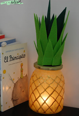 piña lampara diy ananas lamp