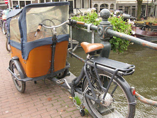 Deluxe Babboe cargo bike, Amsterdam, The Netherlands
