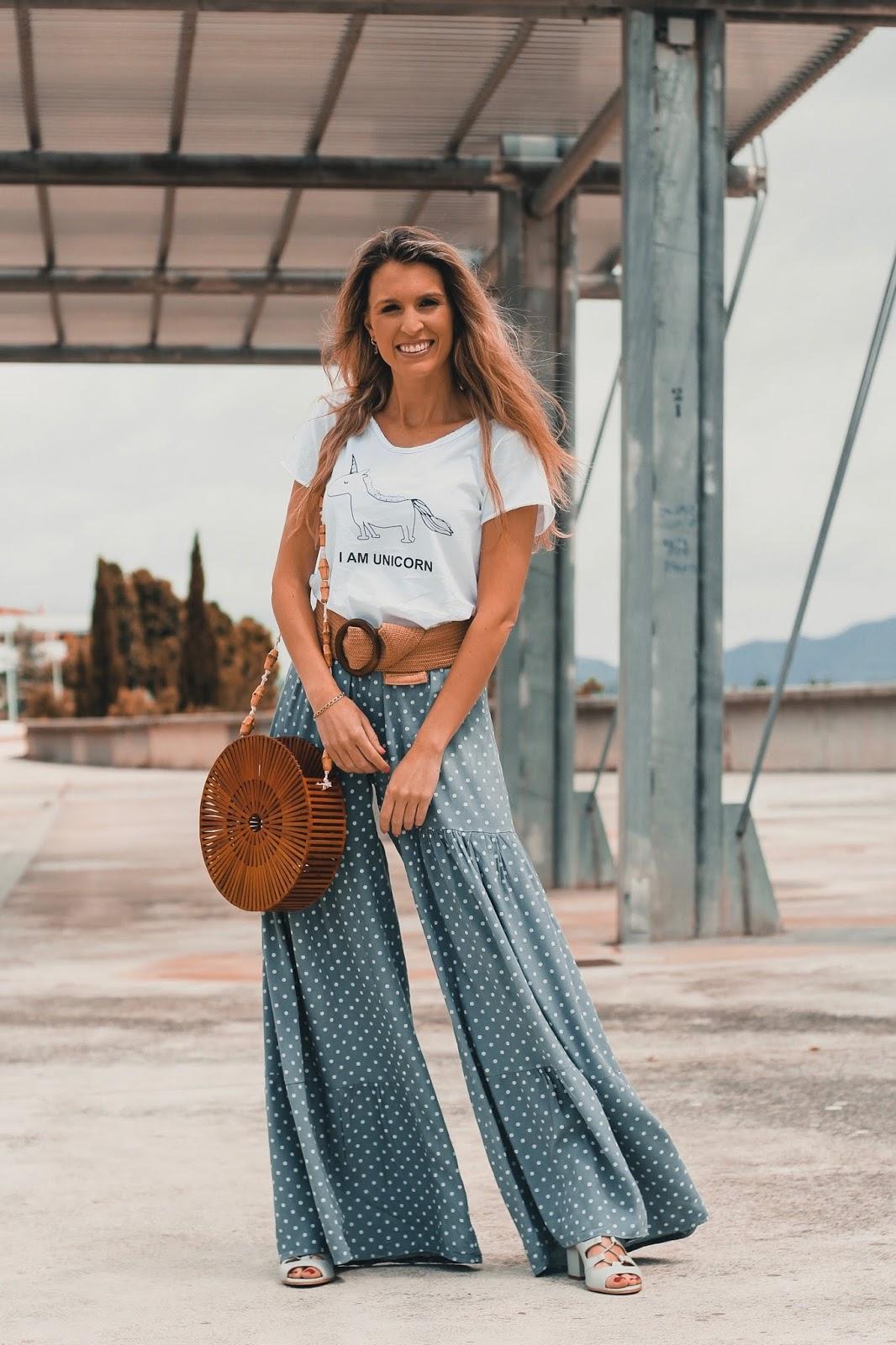 tendencia pantalones de lunares 2018