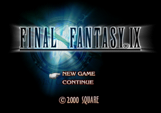Final Fantasy 9 title screen