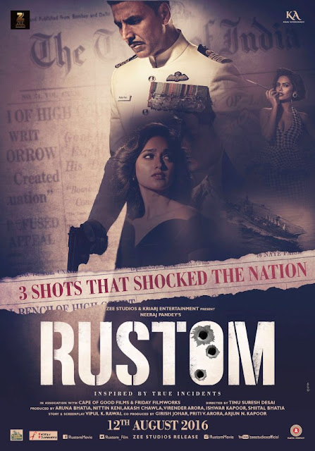 'Crime, Passion Or Crime Of Passion?': The lastest poster of the movie 'Rustom' is revealed.