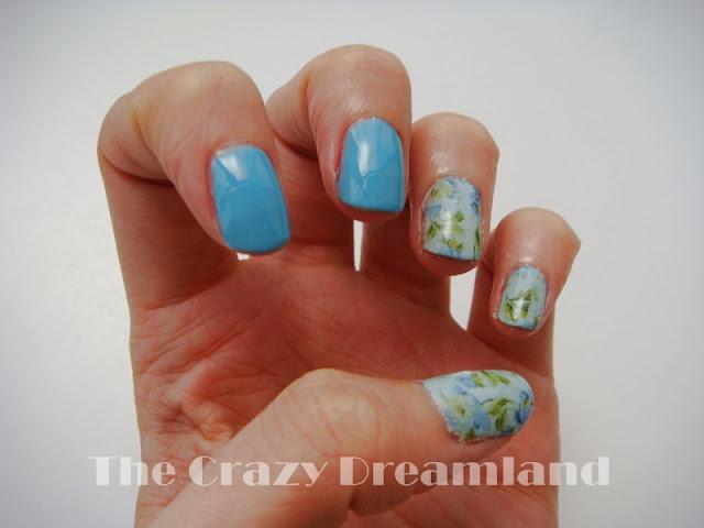 manicura azul reto colores