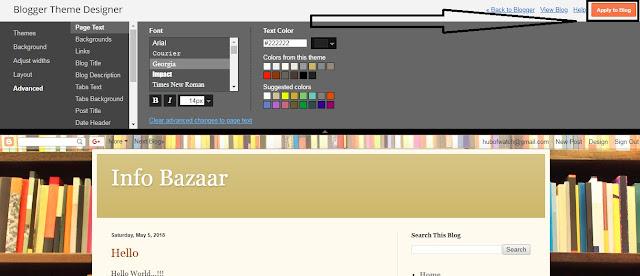 set Full Theme On Google Blog In hindi