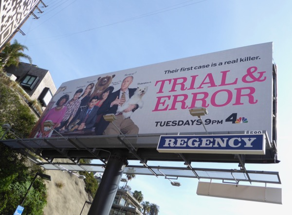 Trial Error series premiere billboard