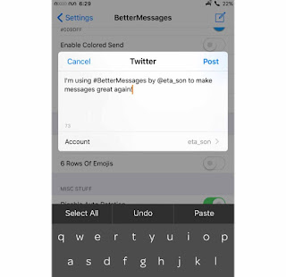 A new Cydia tweak called BetterMessages by the creator harrywantstodev is available in Cydia that allows users to change and add various functions of the message app
