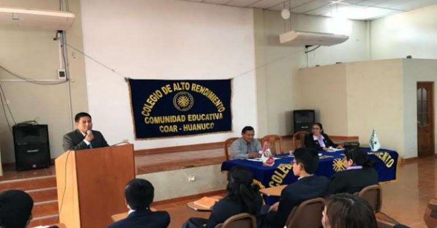 COAR Huánuco lanza proceso de Admisión 2019
