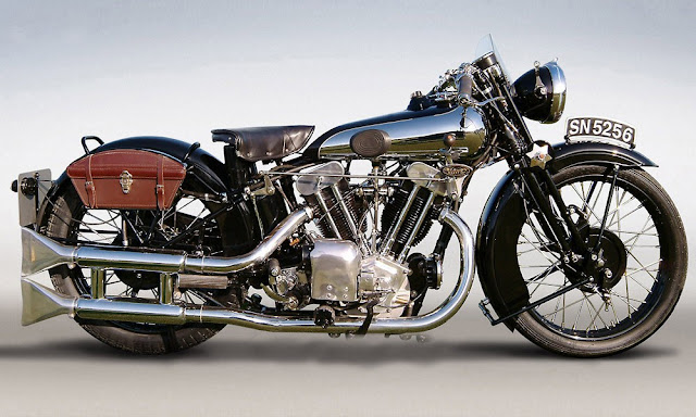 Brough Superior SS100 British vintage motorcycle