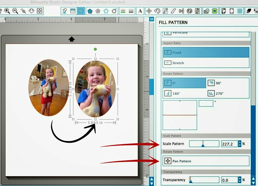 Silhouette tutorial, DIY, do it yourself, personalized, photo stickers, scale pattern, Silhouette Studio