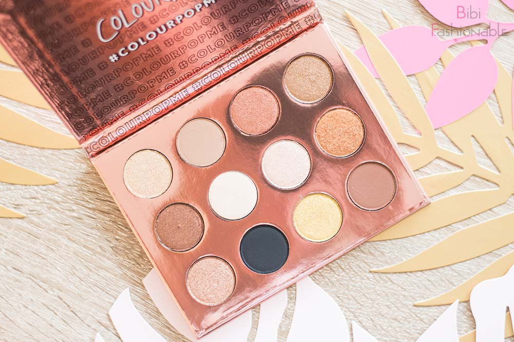ColourPop I think I love you Pressed Shadow Palette Flatlay