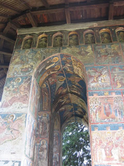 Monasterio Humor, muro pintado