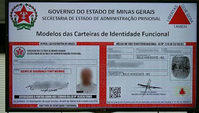 Resultado de imagem para identidade funcional agente penitenciario mg