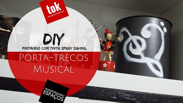DIY - Tinta Spray Suvinil num Porta-trecos Musical