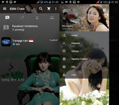 BBM MOD SONG HYE KYO 2.13.0.22 Clone Terbaru