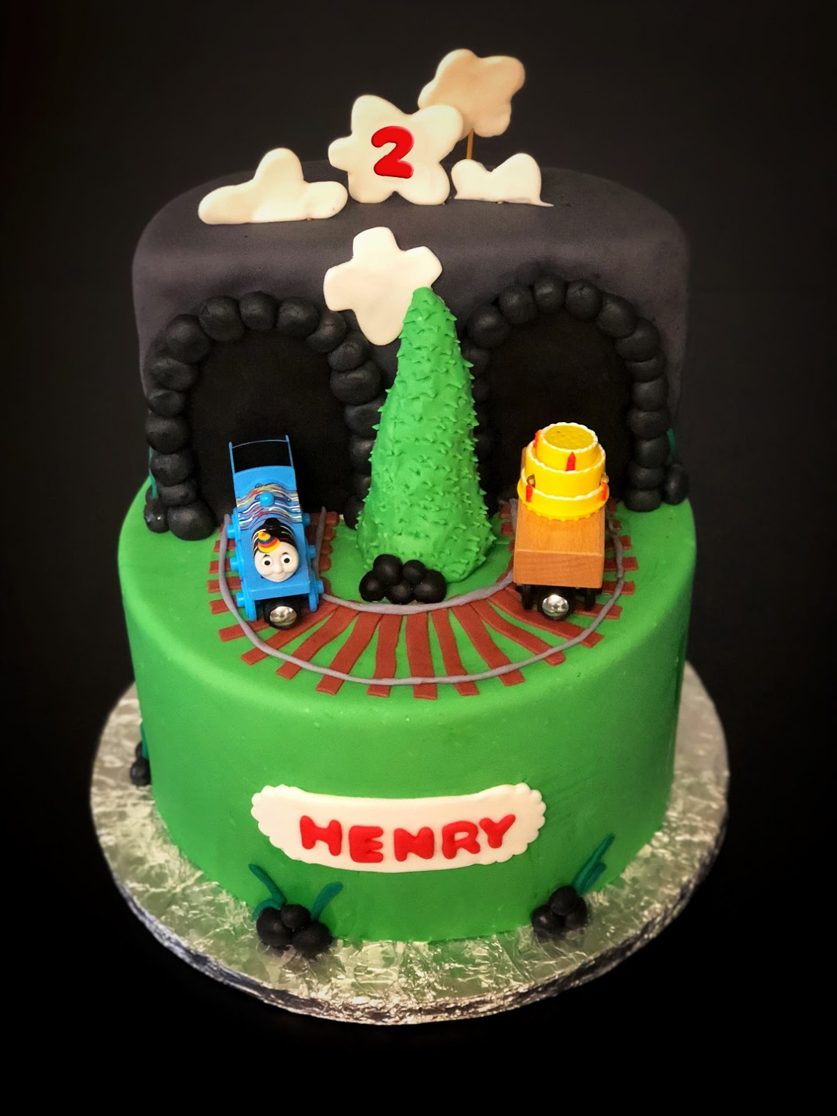 Happy 2nd Birthday To The Cute And Adorable Henry I Had Honor Pleasure Of Making Henrys Cake Again This Year He Loves Thomas Train