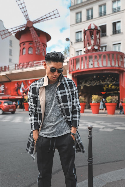 Leo Chan outside of Moulin Rouge