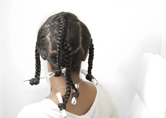 Braidout Tutorial on Dry Relaxed Hair - Ft. Creme of Nature Argan Oil Product Line