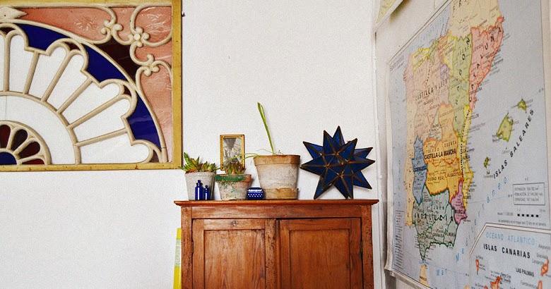 Nika vintage c mo decorar un despacho con mapas y crasas for Decorar un despacho femenino