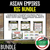 Asian Empires, Ancient China, Ancient World History Mega Bundle, Ancient World History Curriculum, World History Digital Interactive Notebooks, World History Choice Boards, World History Test Prep, World History Guided Notes, World History Word Wall Pennants, World History Game Cards, World History Timelines